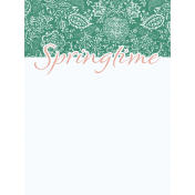 Coastal Spring Springtime Journal Card 3x4