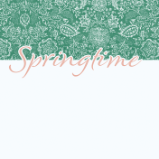 Coastal Spring Springtime Journal Card 4x4