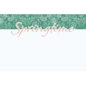 Coastal Spring Springtime Journal Card 4x6