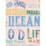 Coastal Spring Vintage Words Journal Card 3x4