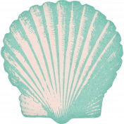 Coastal Spring Teal Shell