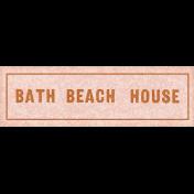 Coastal Spring Beach House Label