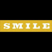 Coastal Spring Smile Word Art Snippet