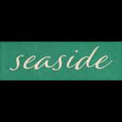 Coastal Spring Seaside Word Art Snippet