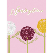 Delightful Days Journal Card- Springtime 3x4