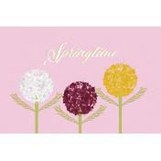 Delightful Days Journal Card- Springtime 4x6