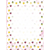 Delightful Days Journal Card- Strawberries 3x4