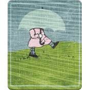 Singin' In The Rain Elements- Girl Wood Tile