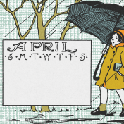 Singin' In The Rain Journal Card- April 4x4