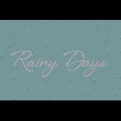 Singin' In The Rain Journal Card- Rainy Days 4x6