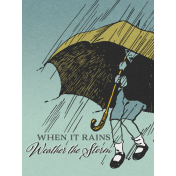 Singin' In The Rain Journal Card- Umbrella 3x4