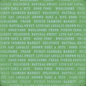 Veggie Table Papers- Wordy
