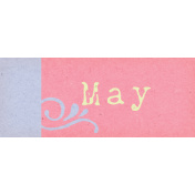Spring Cleaning Mini Kit- May Word Art Element