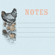 Old Farmhouse Chickens Journal Card 4x4