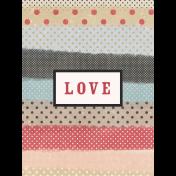 Old Farmhouse Love Journal Card 3x4