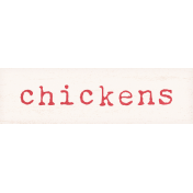 Old Farmhouse Chickens Word Art