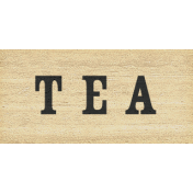 Old Farmhouse Tea Word Art