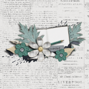 The Whole Story Newsprint Journal Card 4x4