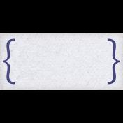 Lavender Fields White Bracket Label
