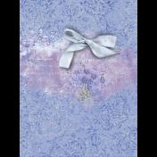 Lavender Fields Journal Card Bow 3x4