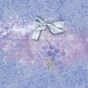 Lavender Fields Journal Card Bow 4x4