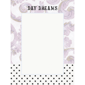 Lavender Fields Journal Card Daydreams 3x4