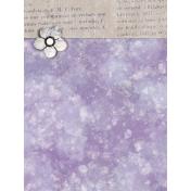 Lavender Fields Journal Card Flower 3x4