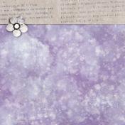 Lavender Fields Journal Card Flower 4x4
