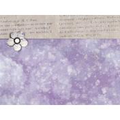 Lavender Fields Journal Card Flower 4x6