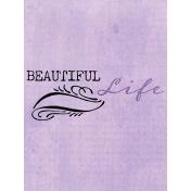 Lavender Fields Journal Card Life 3x4