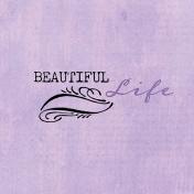 Lavender Fields Journal Card Life 4x4