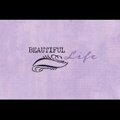 Lavender Fields Journal Card Life 4x6