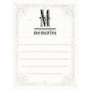 Lavender Fields Journal Card Memories 3x4