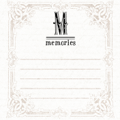 Lavender Fields Journal Card Memories 4x4