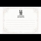 Lavender Fields Journal Card Memories 4x6