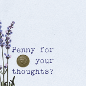 Lavender Fields Journal Card Penny 4x4