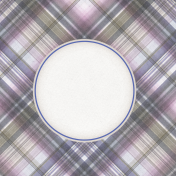 Lavender Fields Journal Card Plaid 4x4