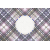 Lavender Fields Journal Card Plaid 4x6