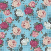 Bohemian Sunshine Roses and Polka Dots Paper