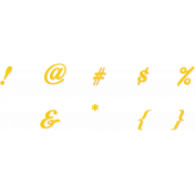 Bohemian Sunshine Yellow Alpha Sheet Symbols