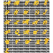 Bohemian Sunshine Yellow Alpha Sheet Uppercase