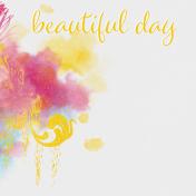 Bohemian Sunshine Beautiful Day 4x4 Journal Card