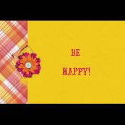 Bohemian Sunshine Be Happy 4x6 Journal Card