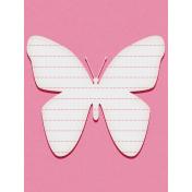 Bohemian Sunshine Butterfly 3x4 Journal Card