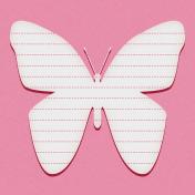 Bohemian Sunshine Butterfly 4x4 Journal Card
