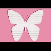 Bohemian Sunshine Butterfly 4x6 Journal Card