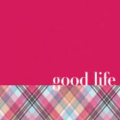 Bohemian Sunshine Good Life 4x4 Journal Card