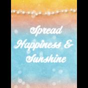 Bohemian Sunshine Happiness 3x4 Journal Card