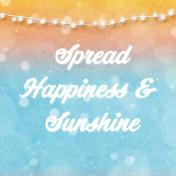 Bohemian Sunshine Happiness 4x4 Journal Card