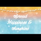 Bohemian Sunshine Happiness 4x6 Journal Card